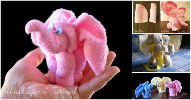 diy ελέφαντας από πετσέτα