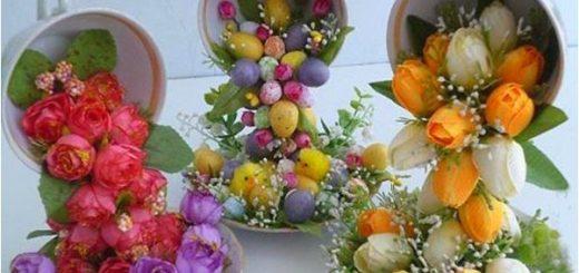 φλιτζάνι με λουλούδια στον αέρα
