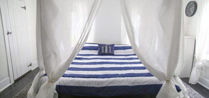 φτιάξτε ουρανό - θόλο με κουρτίνα για το κρεβάτι σας