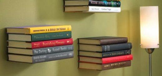 αόρατα ράφια κάνουν τα βιβλία σας να φαινονται ότι αιωρούνται