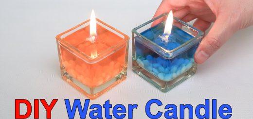 φτιάξτε DIY κεριά νερού