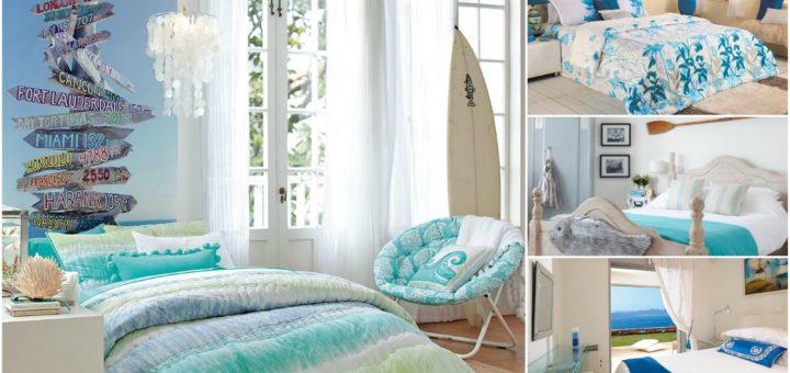 μπλε κρεβατοκάμαρες, καλοκαιρινη διακοσμηση